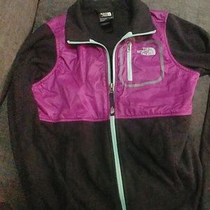 Girls North Face Fleece Zip up jacket